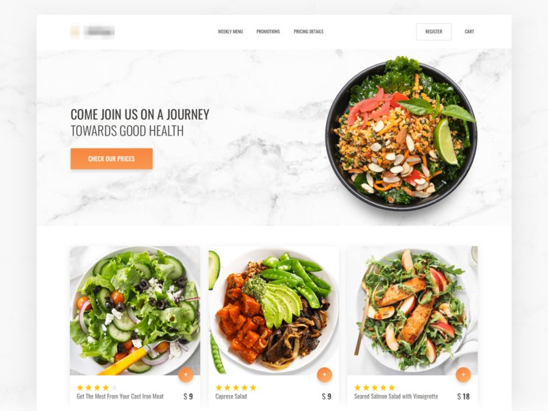 Healthy Food Store deliver cards ecommerce vegetarian vegetable vegan healthy eating healthy food food site web sketch ui
