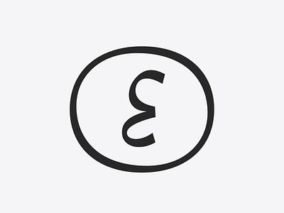 E badge skew border badge logo badge design round outline badge logo illustration design handwritten type tipografia font typeface typography