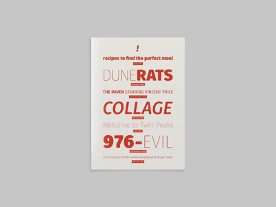 🧨 → Fuse Vol.2 Printed poster design twin peaks red print poster illustration design tipografia type bold weights font family font specimen specimen font typeface typography