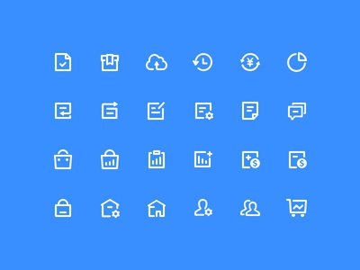 line icons for WeChat work doc cloud work wechat icons line