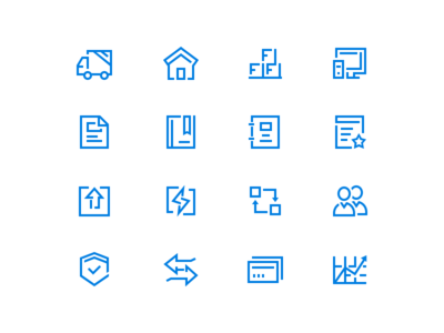 Iconset For Landing page ui icons