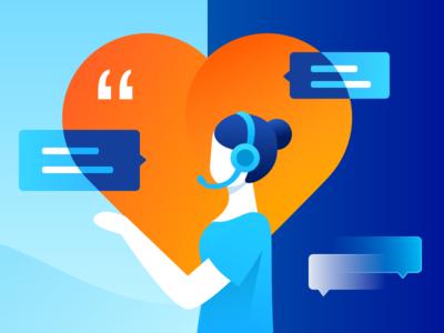 The Heart Of Service heart listen illustration