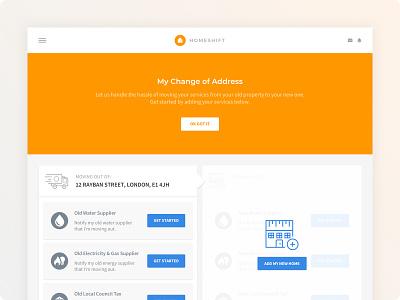 Homeshift - Dashboard #2 dashboard ui ux branding web ux ui minimalist minimalism minimal minimalistic