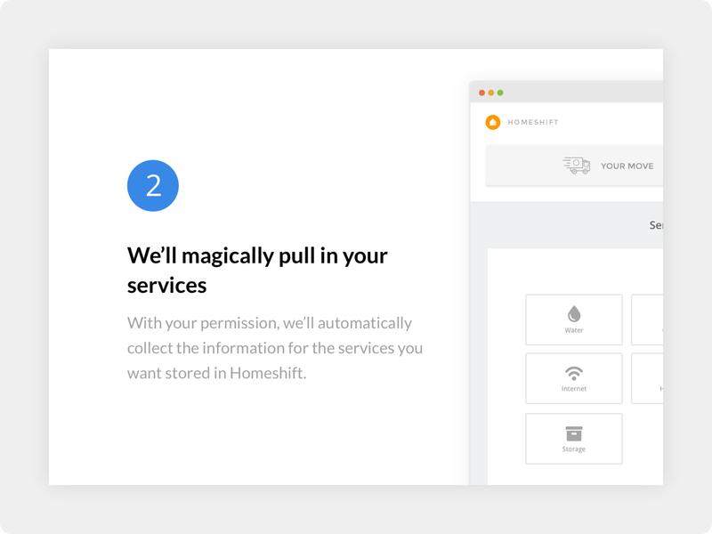 Homeshift - Landing Page Tease design web ux ui minimalist minimalism minimal minimalistic