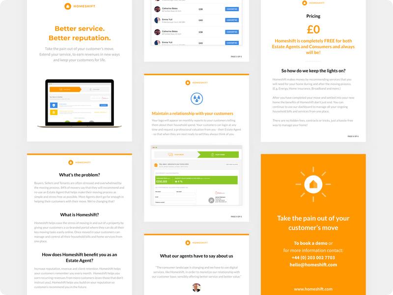 Homeshift - Partner Handout #2 pdf print design print flyer design flyer branding minimalist minimalism minimal minimalistic