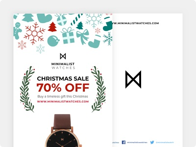 Minimalist Watches - Christmas Flyer watches watch xmas christmas flyer design print design print flyer illustration design vector branding minimalist minimalism minimal minimalistic