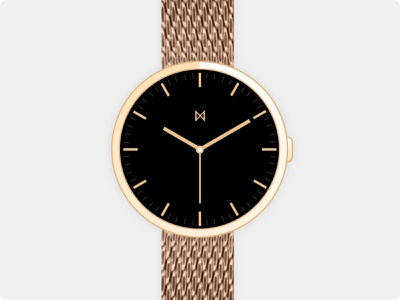 Minimalist Watches - Watch Concept black gold watches watch branding vector design minimalist minimalism minimal minimalistic
