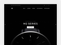 Minimalist Watches - Landing Page Concept #1