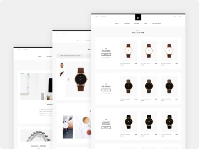 Minimalist Watches - Concept #2 - Product & Other Pages watch product page shopify ecommerce design ecommerce black watches design branding web minimalist ux ui minimalism minimal minimalistic
