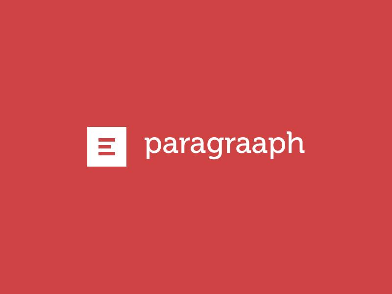 Paragraaph Logo Concept ui ux design portfolio interface user interface