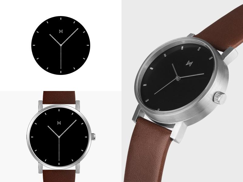 M1 Series minimal minimalistwatches black brown silver process mockup watches watch minimalistic minimalism minimalist