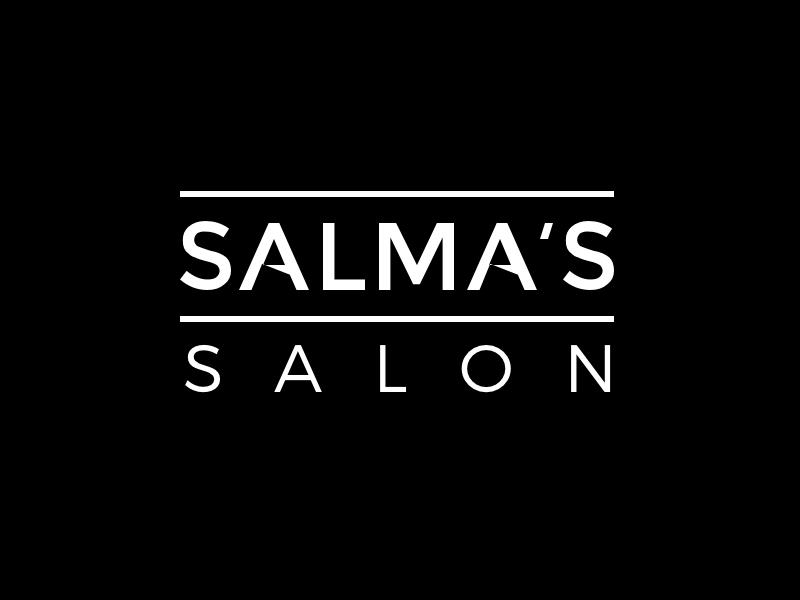 Salma's Salon Concept #2 minimalistic minimalism minimalist logo black hair beauty salon
