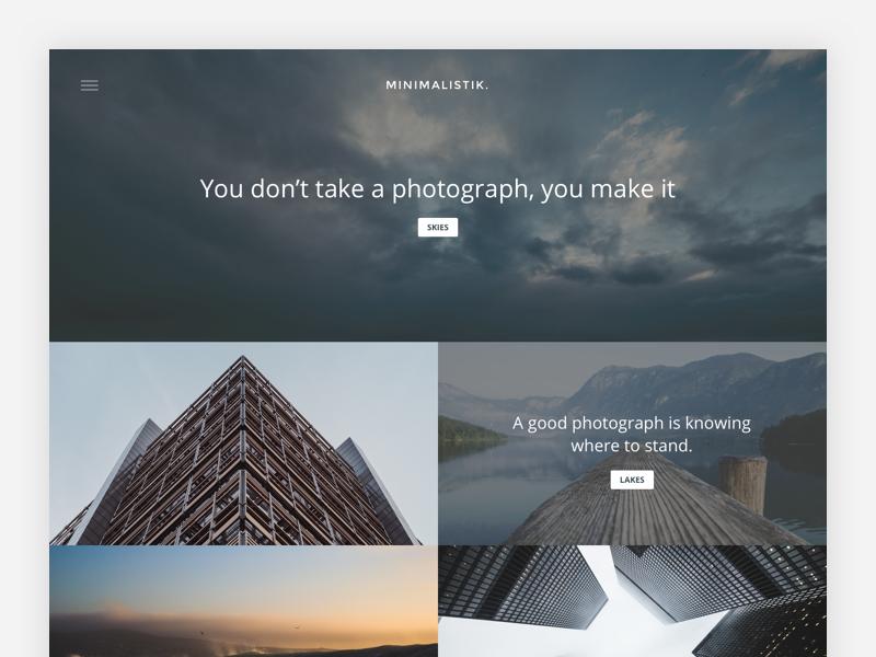 Minimalistik. ux ui landscape scenery travel wordpress blog minimalistic minimalism minimal