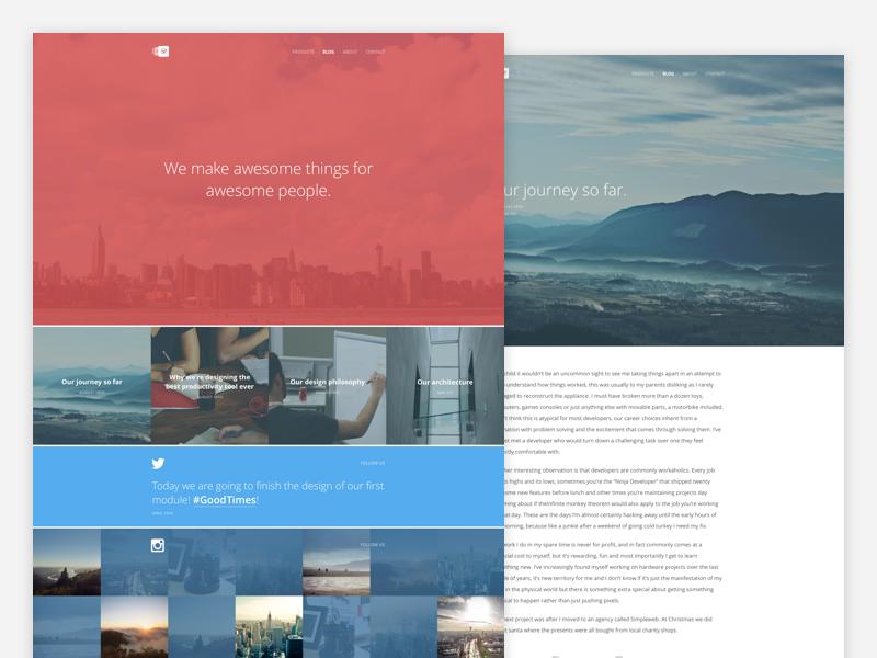 Appsbooth Blog design ux ui landscape scenery wordpress blog minimalistic minimalism minimal