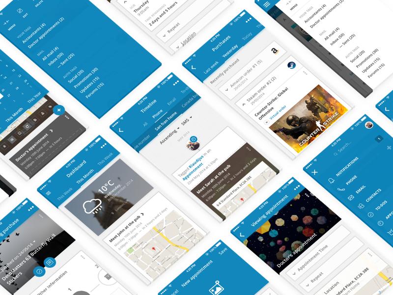 BusyMe iPhone App Design ux ui productivity mobile iphone minimalistic minimalism minimal