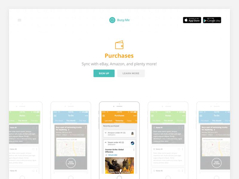 Appsbooth Landing Page 2 ux ui app productivity web mobile iphone minimalistic minimalism minimal