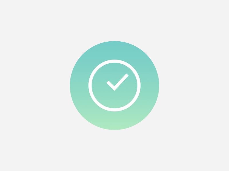 BusyMe Logo circle circular green teal logo minimalistic minimalism minimal