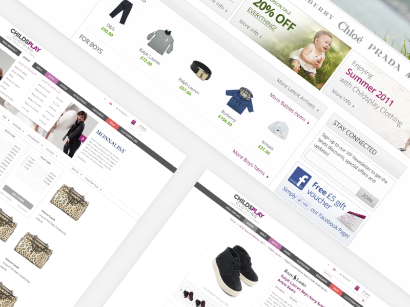 Childsplay Redesign ux ui ecommerce iphone minimalistic minimalism minimal
