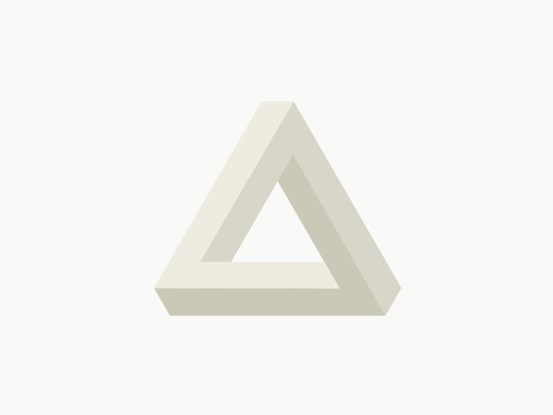 Penrose Triangle penrose triangle impossible penrose minimalistic minimalism minimal