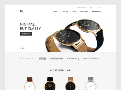 MinimalistWatches.com Redesign (in progress)