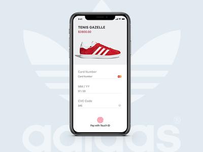Checkout concept adidas interface design interface design payment ux design ux ui design dailyui checkout credit card