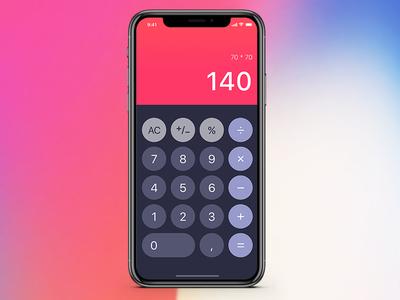 Calculator concept ux design ux ui interface design interface daily calculator