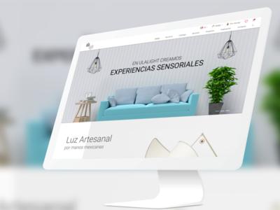 Lamps Website minimal website home page lamp light interface design ui