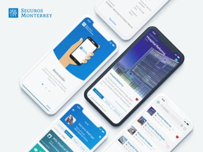 Seguros Monterrey App Design interface design ios medical ui re design app design interface insurance