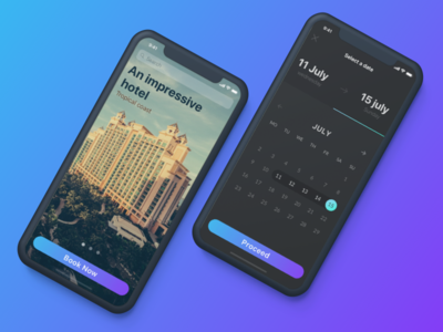 Booking Concept booking design app design interface design user interface calendar ui interface concept hotel booking ios app