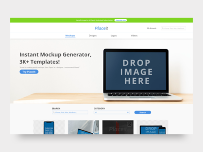Placeit Concept Design design mockup user interface ui concept redesign