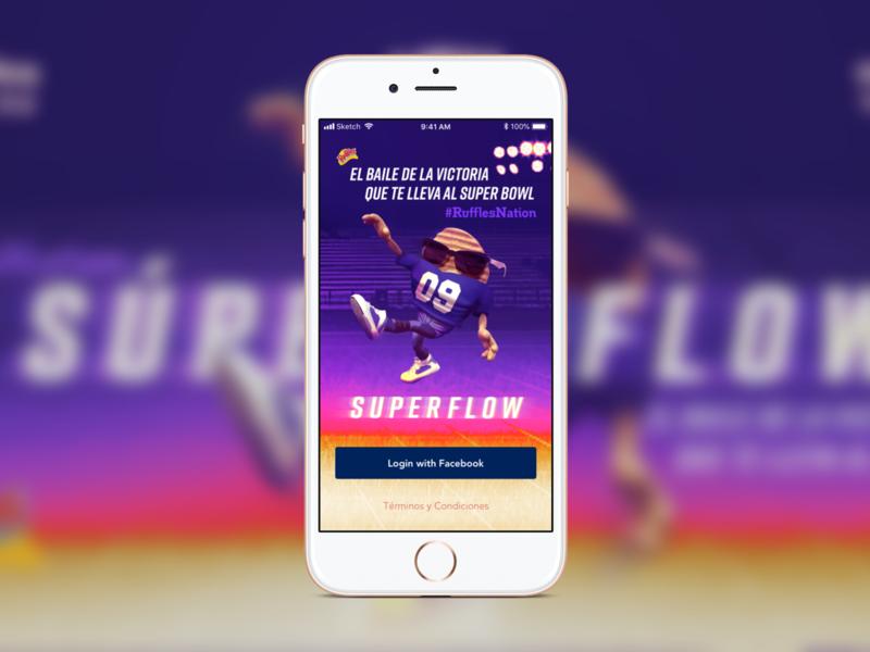 SuperFlow Concept nfl interface ui app concept ruffles