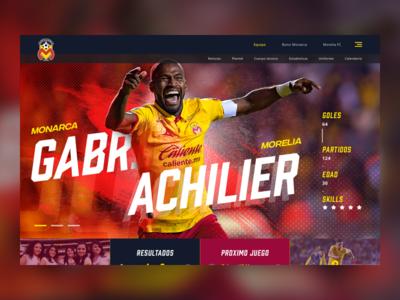 Soccer Website design concept football club landing website interace ui soccer football