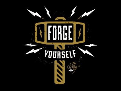 Forge Yourself  design type lightning hammer forge blacksmith texture worn made by few conference