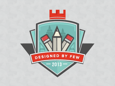Designed By Few pencil crest crown vector branding dxf mxf made by few designed by few