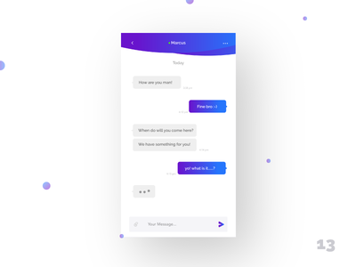 Direct Messaging - Daily UI:: #013