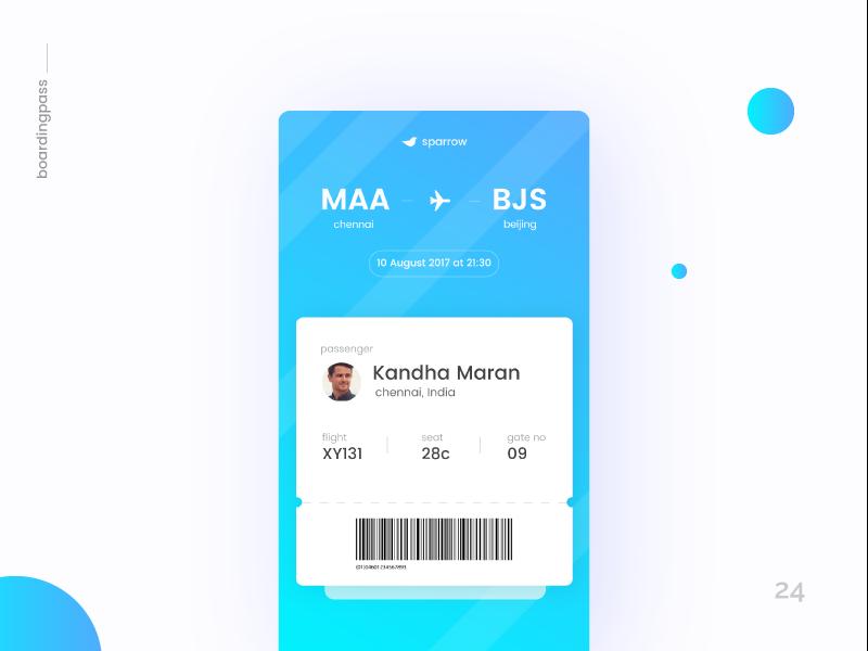 Boarding Pass - Daily UI:: #024