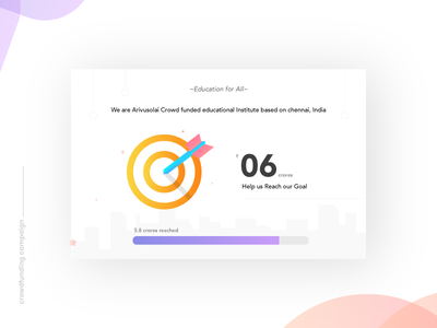 Crowdfunding Campaign - Daily UI:: #032 funding money gradient bubbles app mobile color music player crowdfunding campaign dailyui ui