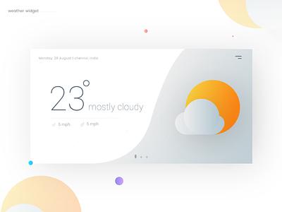 Weather - Daily UI:: #037 weather widget cloudy gradient bubbles app mobile color weather app weather dailyui ui