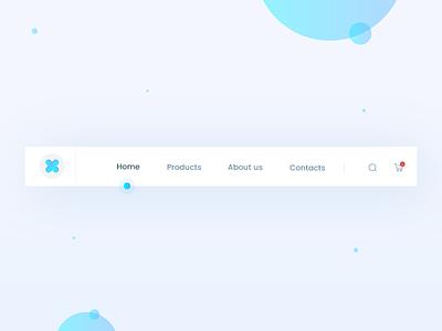 Header Navigation- Daily UI:: #053 animation ux app vector icon typography navigation header dailyui ui