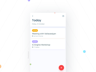 Schedule- Daily UI:: #071 day71 dailyui mobile gif event todo calender meeting iphone shedule ux ui