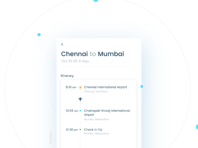 Itinerary- Daily UI:: #079 map booking itinerary search flight ux ui