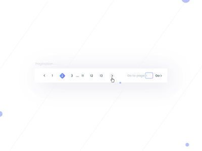 Pagination- Daily UI:: #085 shadow previous pagination numbers next navigation minimal clean card blog article