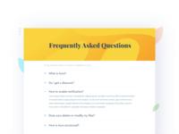FAQ- Daily UI:: #092