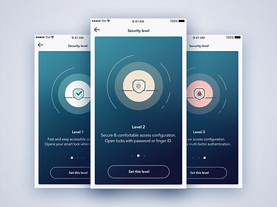 Security settings configuration access unlock lock ios iphone illustration icon security