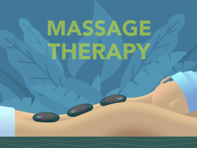 Massage Therapy breath breathing leaf leaves massage animation vector illustration