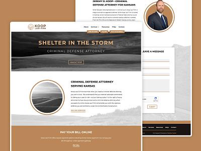Koop Law Firm site kansas flint hills midwest uxui website lawyer webdesign