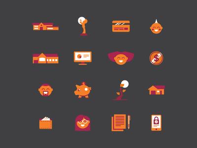 Banking + Community Icons