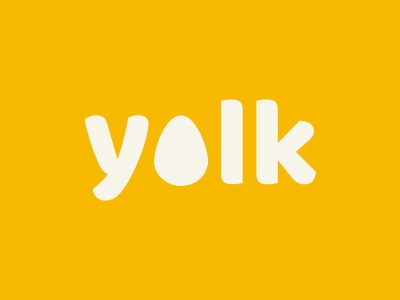 Yolk Logo yellow branding egg logo yellow logo logo