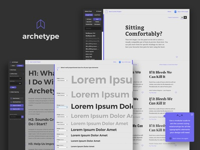 Archetype, a tool for creating typography design systems