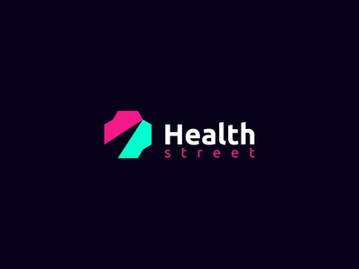 Health Street best designer logo design design cool design best shots branding cool colors good design creativity clean design